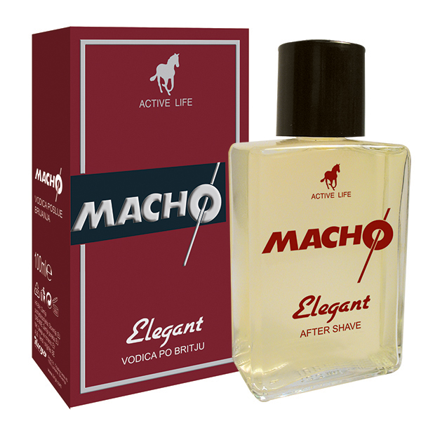 Macho after shave elegant